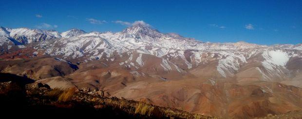 Widok na Cerro las Tortolas. Trekking w Andach - Exploruj.pl