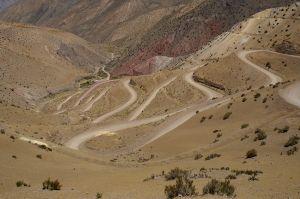 Droga do bazy pod Cerro Donia Ana. Trekking w górach