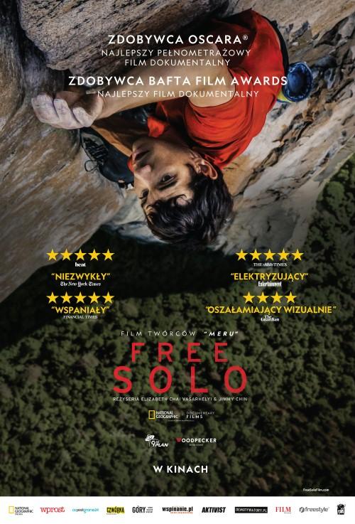 Plakat Free Solo, ekstremalna przygoda w górach