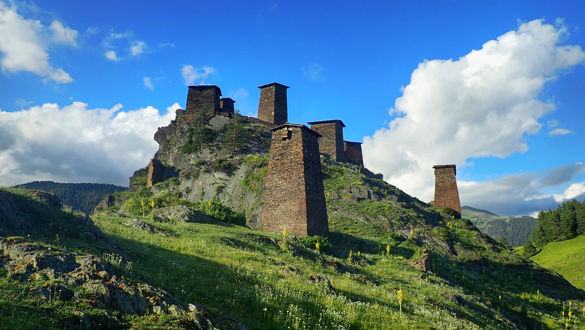 Obronne osiedle w Kaukazie