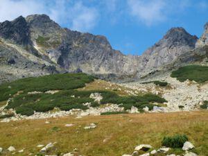Widok na skaliste szczyty w Tatrach
