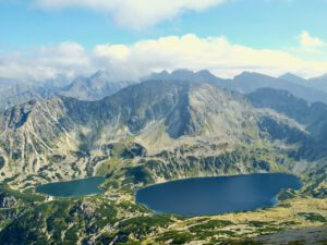 Panorama górska w Tatrach